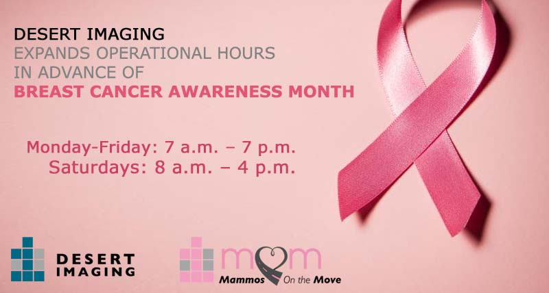 Desert Imaging expands operational hours in advance of breast cancer awareness month